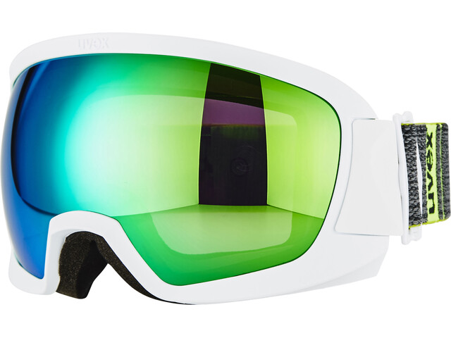 UVEX Contest FM Goggle White Mat DL/Green-Clear